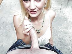 blonde, handjob, babe, public, deepthroat, picked up, for money, outdoors, public pickups, mofos network, jade amber