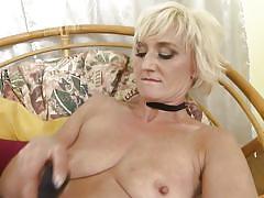 milf, blonde, solo, saggy tits, masturbation, stockings, vibrator, dildo fuck, dildo sucking, mature nl, marnie