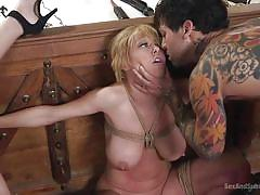 milf, threesome, bdsm, big tits, babe, big cock, face fuck, tattooed, ffm, rope bondage, sex and submission, kink, small hands, dee williams, natasha blu