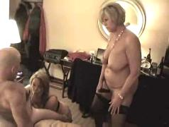 Hot curvy mature cougars threesome