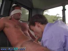 Hot hunk gay driver sex videos and anal blowjob xxx james