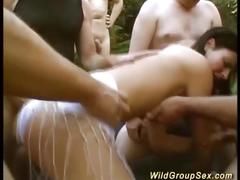 German outdoor groupsex orgy
