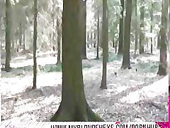 Blonde hexe - deutsches teen hat osterfick im wald