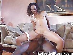 cumshots, ebony, hardcore, blowjob, fucking, black, big-cock, bbc, couple, lingerie, couch
