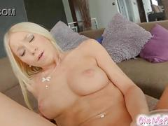 Givemepink tight body blonde chick dildo fucks her pussy