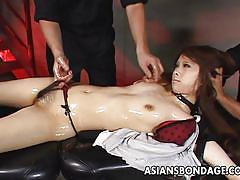 small tits, bdsm, babe, asian, tied, oiled, censored, pov, asians bondage