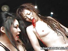 Japanese slave has her head dunked