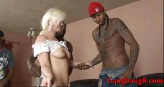 Lusty whore whitney grace dp with massive black cocks