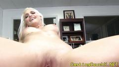 Casting couch blonde working hard for a role