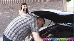 Latina chick selena santoro fucks a good samaritan