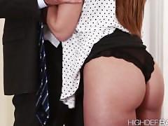 Super hot secretary brooklyns pussy gets fucked hard