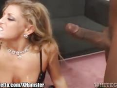 Whiteghetto horny milf sucks 3 black cocks