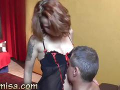 Tattooed milf misa sucks dick and balls and fucks hardcore
