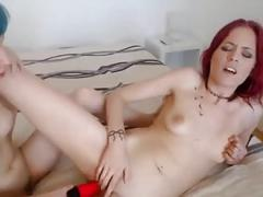 Nice redhead play with girl friend