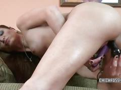 Redhead wife autumn bodell makes herself cum with toys