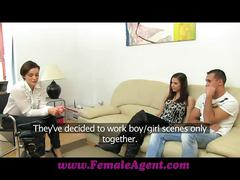 Femaleagent real couples passionate casting fuck