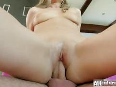 All internal tight pussy filled with cum until creampie drips