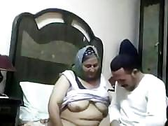 Arab - mature aunty with houseboy