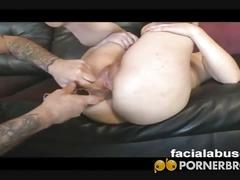 Wild brunette nicoletta frost gets banged hard