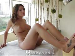 cumshot, hardcore, tits, ass, blowjob, brunette, massage, passionhd