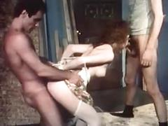 cumshot, redhead, threesome, tape, gang, vintage, violation