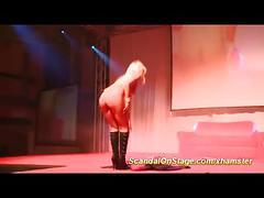 Sexy stepmoms dildo show on public stage