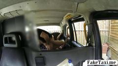 Taxi driver has a long boner