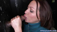 Milf vanessa lunas interracial gloryhole dick sucking marathon