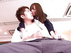 Japanese schoolgirl gets dirty in the classroom
