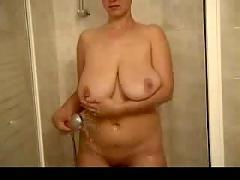 Hot sexy saggy shower