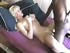 Fit white woman bbc creampie