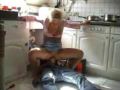 Milf sucks and she has sex with plumber