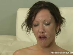 Jennifer white gets her face covered in cum