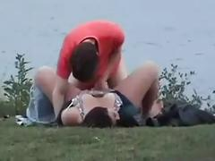 Chubby 20yr old fucking at the lake