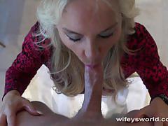 blowjob, hardcore, blonde, milf, wife, doctor, patient, big cock, cum shot, oral sex