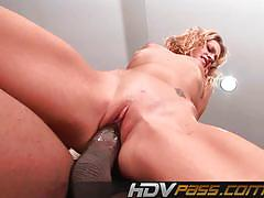 Hdv pass lily white fucks a huge black cock