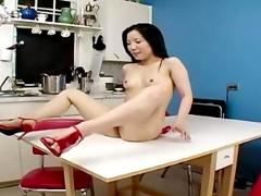 Homemade asian kitchen fuck