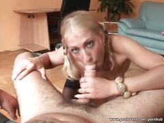 Amazing blonde in hot pov blowjob