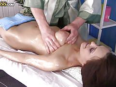 Dominica is well lubed at her massage