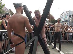whip, public, cosplay, gay bdsm, public disgrace, electric wand, electro bdsm, bound in public, kink men, cass bolton, christian wilde, jessie colter