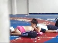 Lesbians caught playing