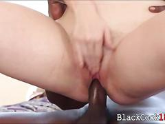 Cute redhead amarna miller pounded by big black dick