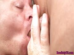 Shemale in stockings gets anally fucked