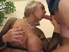 Big boobs blonde milf and her lover