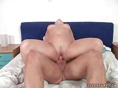 Young cutie enjoys hot sex with a grandpa