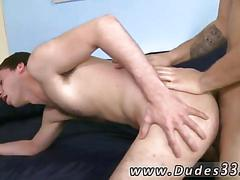 Tattooed gay boy bangs his little buddy doggy style on camera