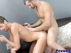 Mature jock cj parker cocksucked before anal