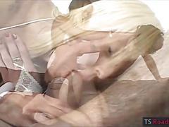 Massive boobs blonde shemale britany fucked horny dude