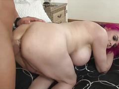 Graceful shemale fucking horny girl
