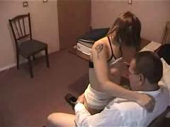 Brunette from russian orgy party vid 2